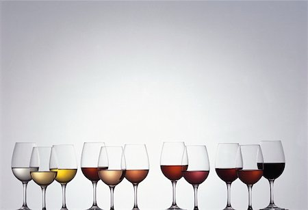 Various types of wine in glasses Stock Photo - Premium Royalty-Free, Code: 659-01850076