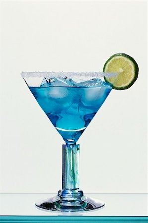Blue Margarita (Tequila and Blue Curaçao) Stock Photo - Premium Royalty-Free, Code: 659-01850296