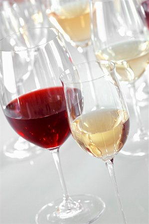 Glasses of different types of wine Stock Photo - Premium Royalty-Free, Code: 659-02211217