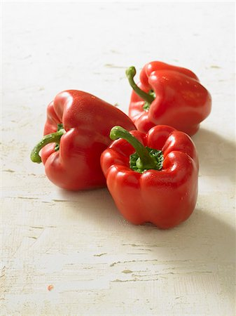 paprika - Three red peppers Stock Photo - Premium Royalty-Free, Code: 659-03523621