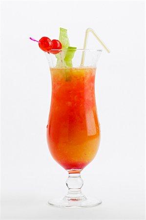 Tequila Sunrise (Tequila, grenadine syrup & orange juice) Stock Photo - Premium Royalty-Free, Code: 659-03534837