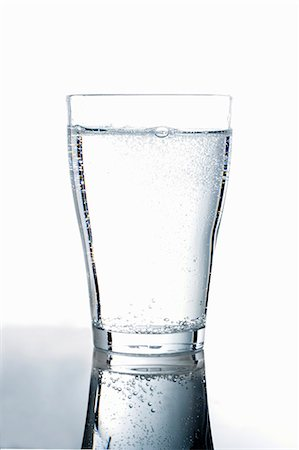 drinking water glass - A glass of mineral water Stock Photo - Premium Royalty-Free, Code: 659-03537882