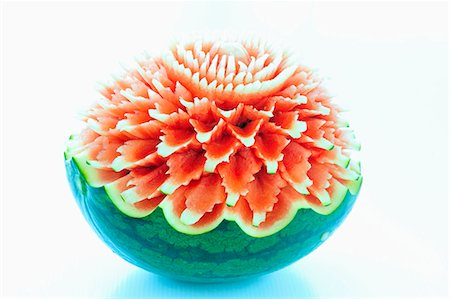 decorative - Carved watermelon Stock Photo - Premium Royalty-Free, Code: 659-03532456