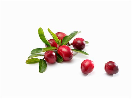 Several cranberries with leaves Stock Photo - Premium Royalty-Free, Code: 659-03533966