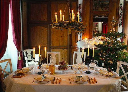 set - Christmas table decoration Stock Photo - Premium Royalty-Free, Code: 652-05807305