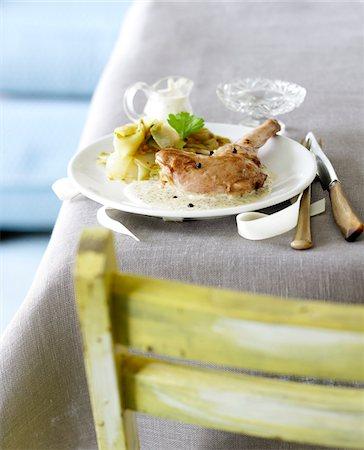 Rabbit in mustard sauce Stock Photo - Premium Royalty-Free, Code: 652-05807406