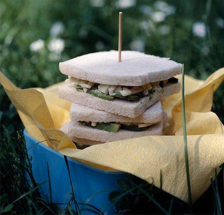snack - Avocado sanwiches Stock Photo - Premium Royalty-Free, Code: 652-05807460