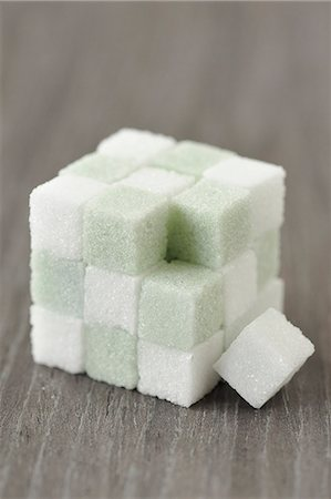 sugar - Cube of colored sugar lumps Stock Photo - Premium Royalty-Free, Code: 652-06819071