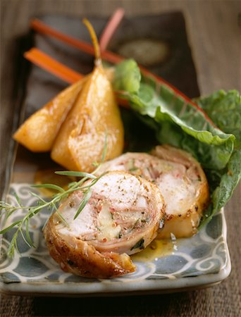 Saddle of rabbit with pears Stock Photo - Premium Royalty-Free, Code: 652-02221415