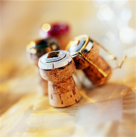 Champagne corks Stock Photo - Premium Royalty-Free, Code: 652-03633205