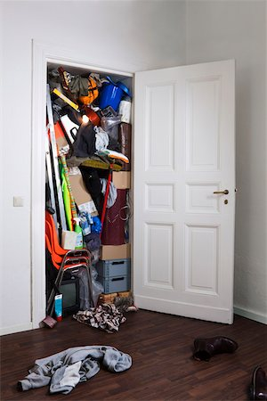 A closet stuffed with various storage items Stock Photo - Premium Royalty-Free, Code: 653-05393107