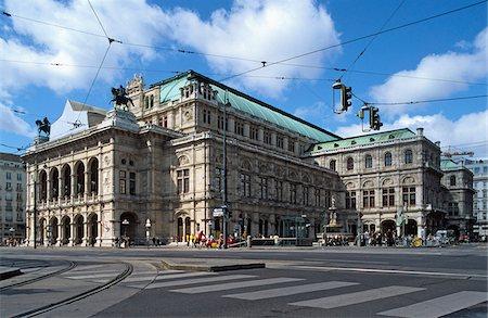Austria, Vienna, Vienna state opera house Stock Photo - Premium Royalty-Free, Code: 653-05393411