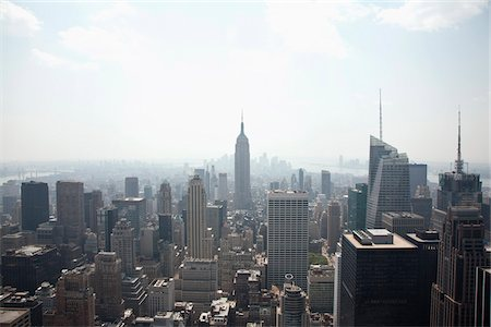 Midtown Manhattan cityscape, high angle view Stock Photo - Premium Royalty-Free, Code: 653-05855586