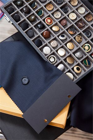 Detail of fabric and button samples Stock Photo - Premium Royalty-Free, Code: 653-05976682