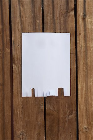 poster - A blank flyer hanging on a wooden fence Stock Photo - Premium Royalty-Free, Code: 653-05976766