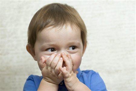 shy baby - Shy child Stock Photo - Premium Royalty-Free, Code: 653-05976882