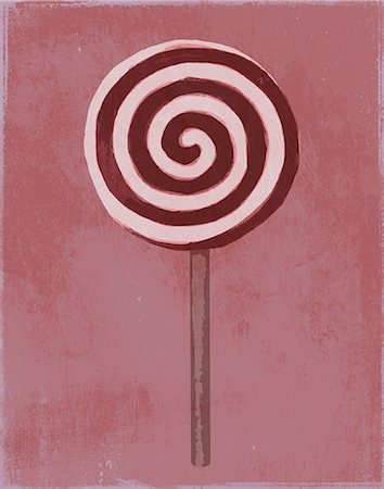 swirl - A painting of a swirl lollipop Stock Photo - Premium Royalty-Free, Code: 653-06534195