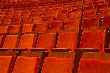 event - Detail of seats in a theater Stock Photo - Premium Royalty-Free, Code: 653-06534213
