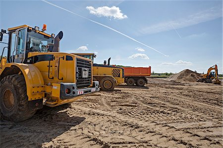 earth no people - Construction vehicles on work site Stock Photo - Premium Royalty-Free, Code: 653-06534498