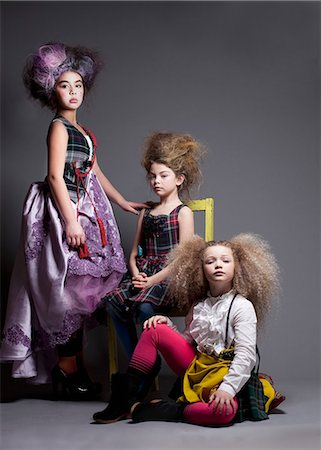 dress up girl - Girls dressed up in Marie Antoinette style Stock Photo - Premium Royalty-Free, Code: 653-06534925