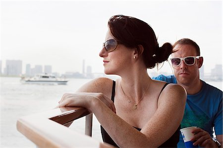 Man and woman on river boat to Asakusa in Tokyo Stock Photo - Premium Royalty-Free, Code: 653-06534999