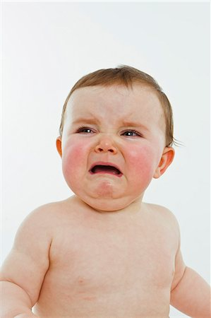 A baby girl crying Stock Photo - Premium Royalty-Free, Code: 653-06533664