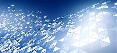 A pattern of triangles on a blue background Stock Photo - Premium Royalty-Free, Code: 653-06819524