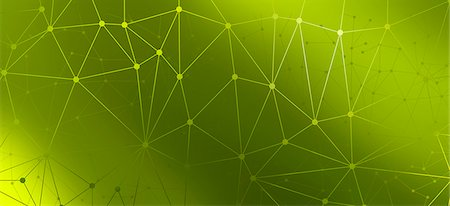 Multiple lines connected by dots against a green background Stock Photo - Premium Royalty-Free, Code: 653-06819535