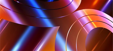 Concentric swirl shapes, close up Stock Photo - Premium Royalty-Free, Code: 653-06819537