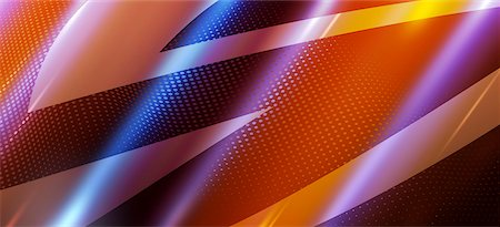 Futuristic sharp angle shapes on a dotted background Stock Photo - Premium Royalty-Free, Code: 653-06819545
