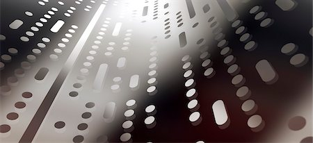Various dots and dashes on a shiny transparent surface Stock Photo - Premium Royalty-Free, Code: 653-06819543