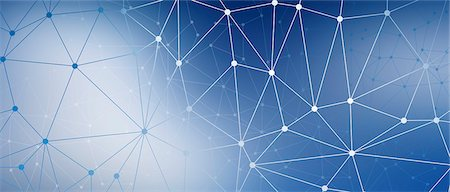 A web of dots connected by lines against a blue background Stock Photo - Premium Royalty-Free, Code: 653-06819572