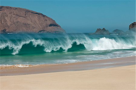 Beach wave in La Graciosa, Canary Islands, Spain Stock Photo - Premium Royalty-Free, Code: 653-06819598