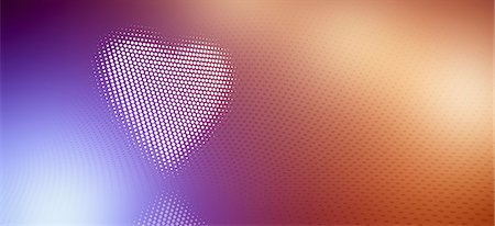 Spotted heart against a multi-colored gradient background Stock Photo - Premium Royalty-Free, Code: 653-07233901