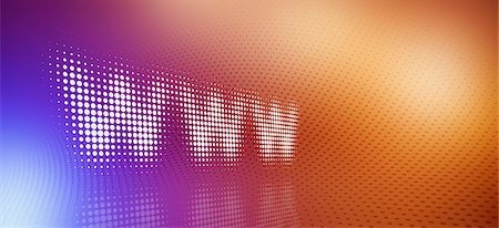 Spotted www sign reflected on dot patterned surface Stock Photo - Premium Royalty-Free, Code: 653-07233940