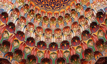 decoration pattern - Full frame shot of decorative mosque dome, Bukhara, Uzbekistan Stock Photo - Premium Royalty-Free, Code: 653-08126126