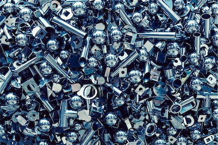 Full frame shot of nuts and bolts Stock Photo - Premium Royalty-Free, Code: 653-08171872