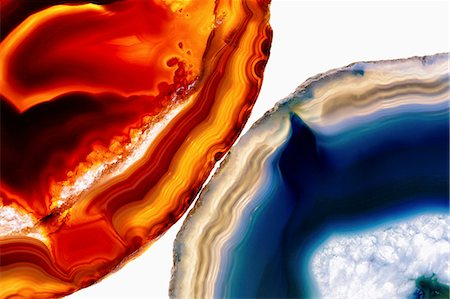 Close-up of agate stones on white background Stock Photo - Premium Royalty-Free, Code: 653-08541788
