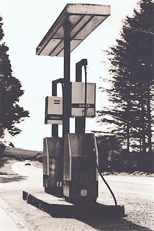 rural gas station - gas pumps Stock Photo - Premium Royalty-Free, Code: 653-01651183