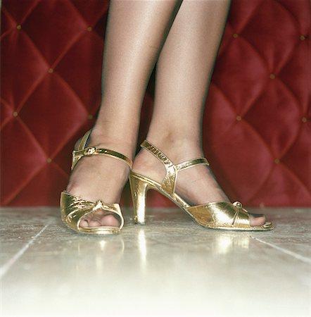 stocking feet - Female feet in high heels Stock Photo - Premium Royalty-Free, Code: 653-01652799