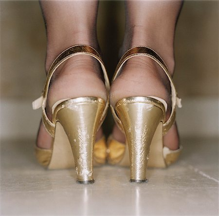stocking feet - Female feet in high heels Stock Photo - Premium Royalty-Free, Code: 653-01652800