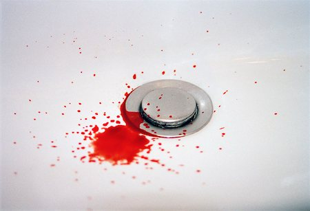 dripping blood - Blood in a bathroom sink Stock Photo - Premium Royalty-Free, Code: 653-01665664