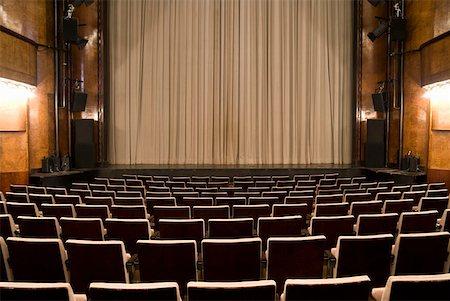 An empty art deco theatre Stock Photo - Premium Royalty-Free, Code: 653-01665860