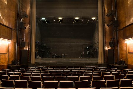 View of the stage in an empty theater Stock Photo - Premium Royalty-Free, Code: 653-01665893
