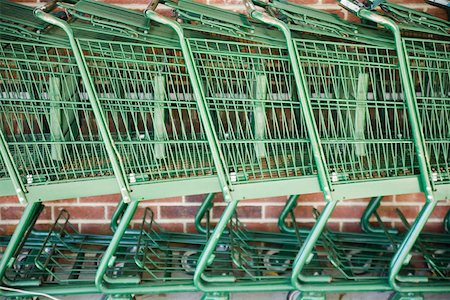 empty shopping cart - Shopping trolleys Stock Photo - Premium Royalty-Free, Code: 653-01661919