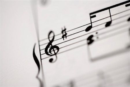 Detail of sheet music Stock Photo - Premium Royalty-Free, Code: 653-01662402