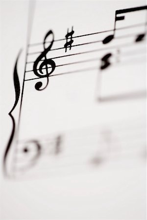 Detail of sheet music Stock Photo - Premium Royalty-Free, Code: 653-01662441