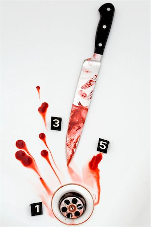 A crime scene Stock Photo - Premium Royalty-Free, Code: 653-01697726