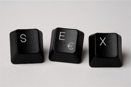 Computer keys spelling 'Sex' Stock Photo - Premium Royalty-Free, Code: 653-01697766