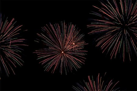 pink and purple fireworks - Fireworks Stock Photo - Premium Royalty-Free, Code: 653-01697900